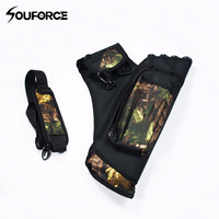 New 4 Tubes Arrow Quiver Waterproof Archery Quiver In Camouflage Arrows Holder Bag For Reverse Bow