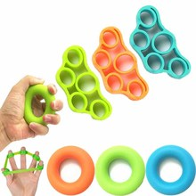 Finger Gripping Ring Resistance Bands Hand Gripper Forearm Wrist Training Stretcher Exercise Pull Ri