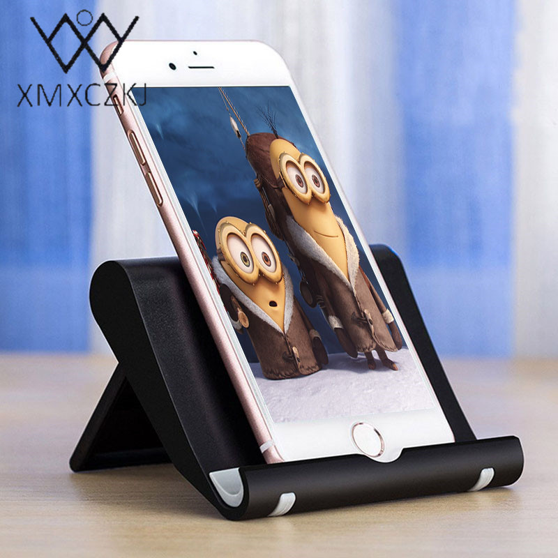 XMXCZKJ Mini Desk Stand Universal Anti Slide Silicone Rubber Tablet Holder Bracket Mobile Phone Holder For IPhone Xiaomi
