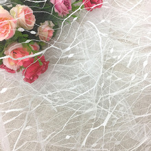 2Yards Wedding Mesh Lace Fabric Ivory White Ribbon DIY Decorative Trim Birthday Christmas Decor Craft Accessories