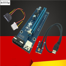 Mini PCIE Riser Card PCI-E PCI Express 1x to 16x USB 3.0 Cable SATA to 4Pin IDE Molex Power Supply for BTC Miner Machine Mining(China)