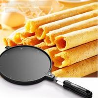 Egg Pancake Rings Egg Roll Machine Crispy Omelet Mold Baking Pan Round Metal Waffle Pan Non Stick Pancake Maker Baking Tools