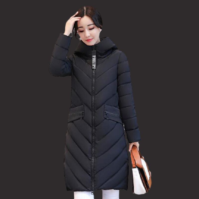 Winter jacket women fashion 2017 Park new siege female jacket long coat coat Korean version of large size female cotton clothing
