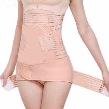 Послеродовой пояс для живота для беременных женщин, Корректирующее белье для тела, бандаж для похудения, 3 в 1 корсет, пояс для коррекции талии