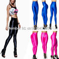 New fashion high waist neon colorful high elastic leggings for women gym sportswear dancing pants zipper plus size Hot