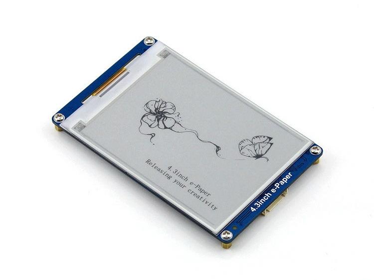 Prix pour 4.3 pouce E-Papier 800x600 Résolution E-encre LCD Module D'affichage affiche géométrique graphique, textes, et images