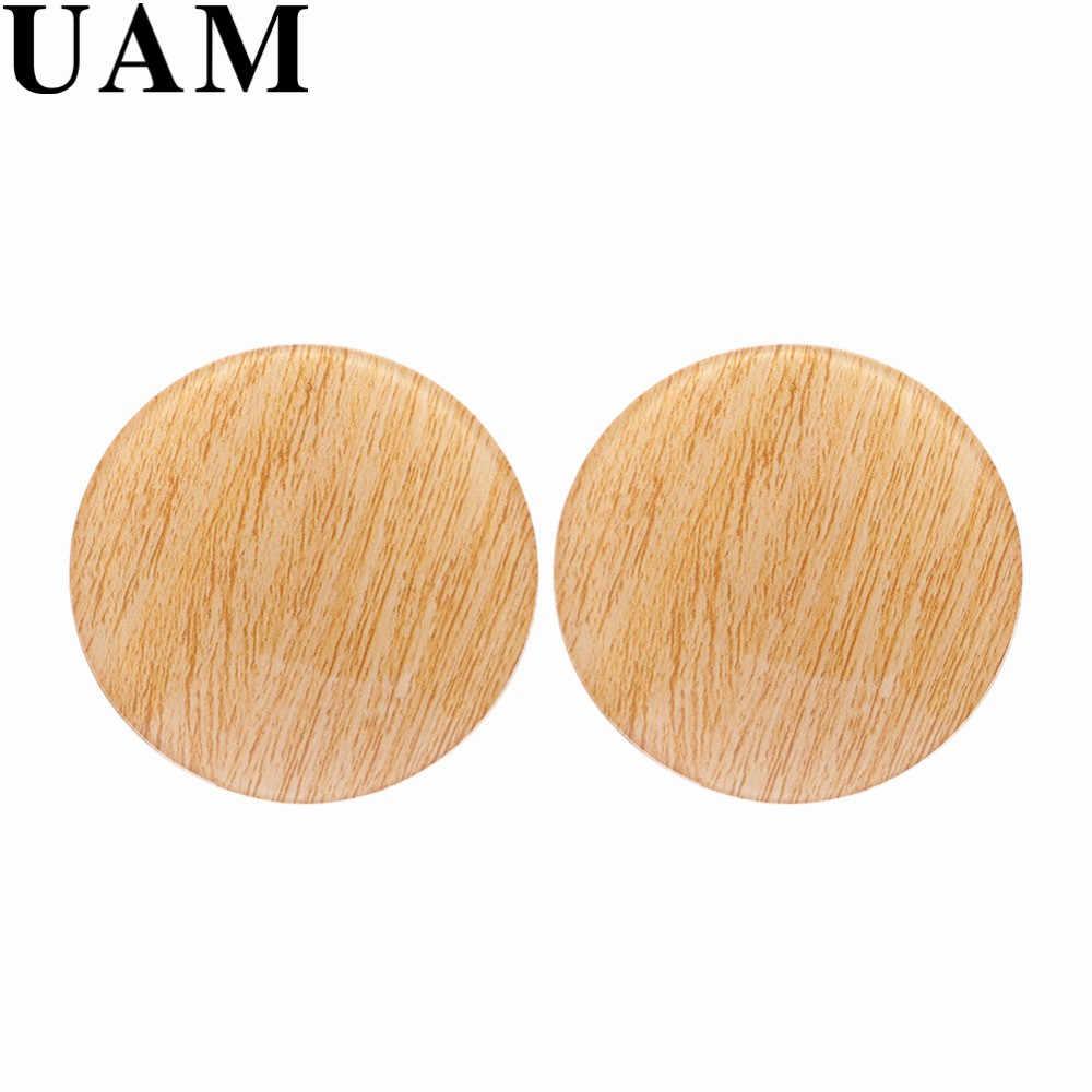 UAM Oversize Grande Rotonda Orecchini con perno Per Le Donne Geometrica del Cerchio Orecchini Europeo Caldo di Trasporto di Goccia Acrilico Brincos Pentients