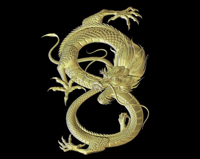 Dragon Model STL 3D Relief For CNC Router Carving Engraving Artcam Type3 Aspire M328