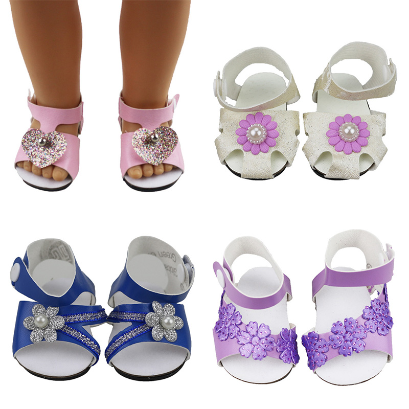 18-inch Doll Sandals-My Little Baby Accessories fit 18'' American/Born/Life/Generation doll-cute Toys shoes fit Girls best Gifts