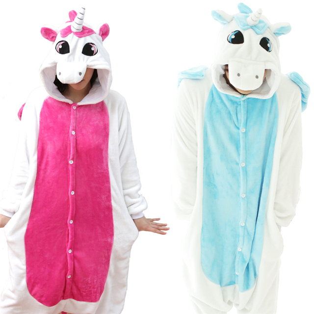 1ef48d6b84 2018 Pink Unicorn Pajamas Sets Flannel Pajamas Winter Nightie Stitch Pyjamas  for Women Adult Sleepwear pijama unicornio licorne