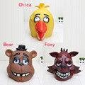 Calidad Adultos de Cinco Noches En Freddy Freddy foxy chica oso Completo de Látex Máscara de látex Figura Juguete FNAF juguete