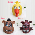Quality Adult Five Nights At Freddy's Freddy chica foxy bear Full Latex Mask Latex Figure Toy FNAF toy