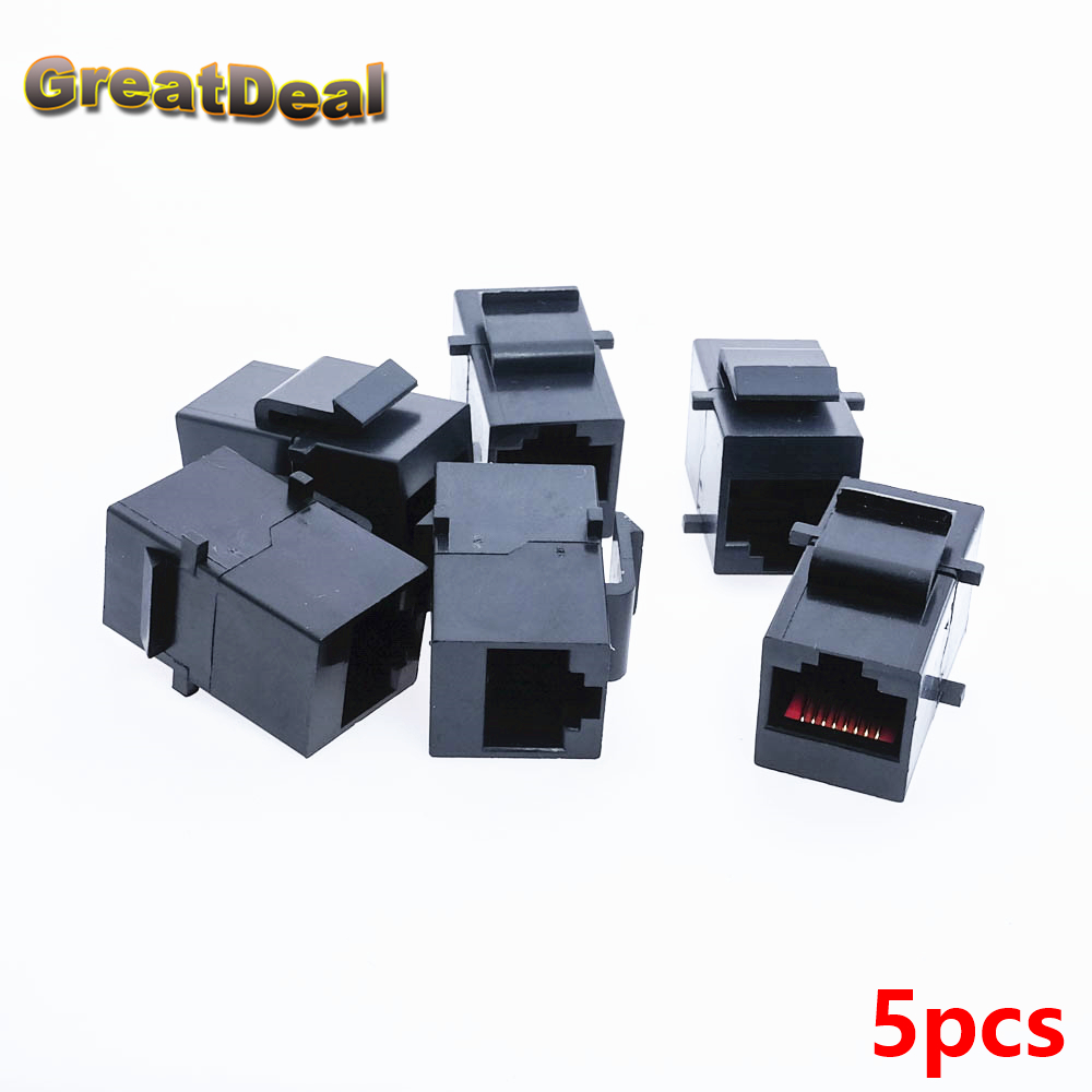 5pcs Cat5 Cat5e RJ45 Connector Plug Socket RJ45 Network Cable Blank Panel Patch RJ45 Extender Plug Joiner Coupler Adapter HY445 120mm wall plate 4 ports network ethernet lan cat5e rj45 socket panel faceplate home plug adapter