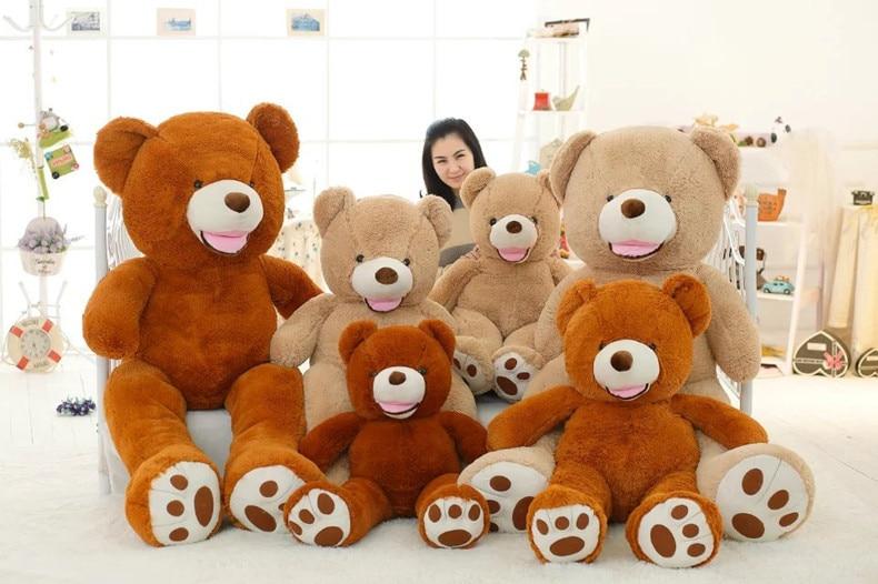 Ours en peluche gros animaux en peluche mignons pour bébés filles petite amie poupées en peluche avec petits yeux 100 cm jouets en peluche pour enfant