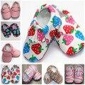 Aguas Termales Fresa Rainbow Leopard Pu Bebé Granel Zapatos Mocasines Moccs Bebé Recién Nacido Suaves del Calzado Zapatos 0-2 Años
