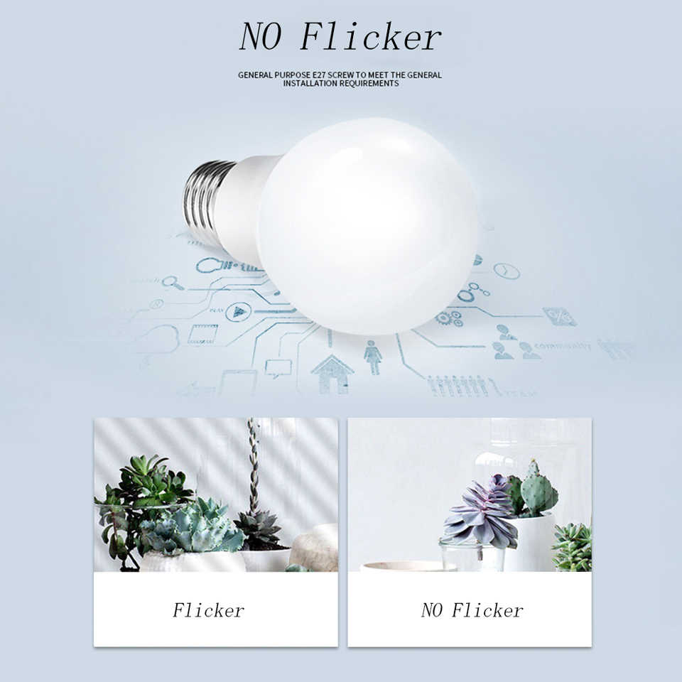 220V Led Lamps E27 Led Bulb SMD2835 LED Lampada Ampoule Bombilla 3W/5W/7W/9W/12W/15W Led Spotlight for Home Lighting