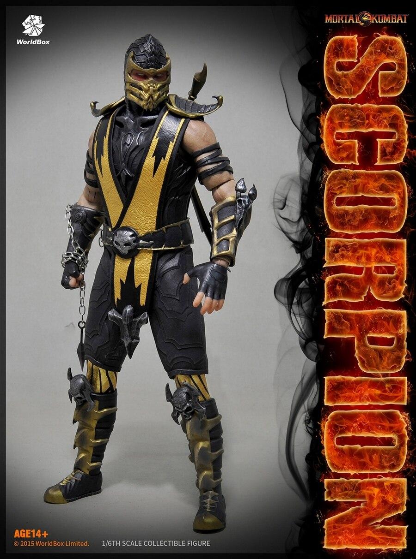 1 6 scale Figure doll Mortal Kombat Scorpionb 12 action figures doll Collectible Figure Plastic Model