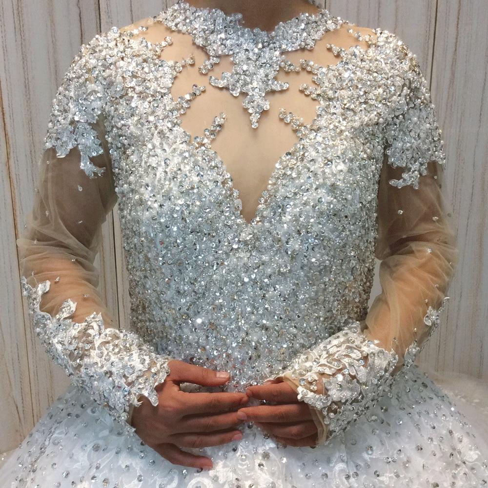 SuperKimJo Vestido De Noiva 2018 Real Photo kristallen trouwjurken - Trouwjurken - Foto 3