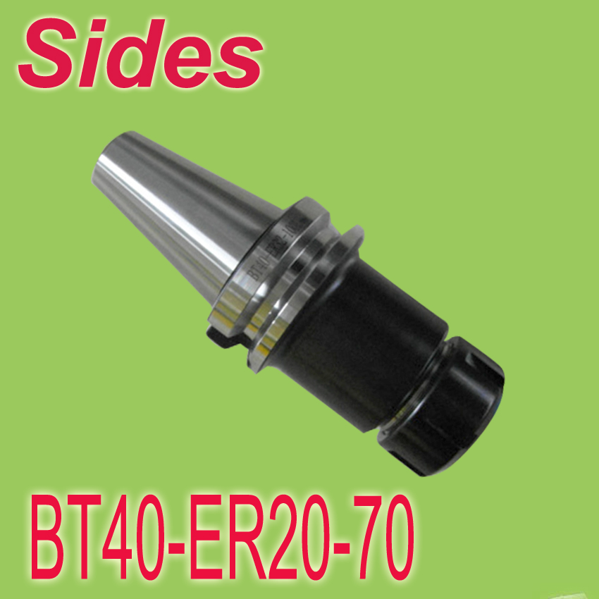 Free Shipping BT40 ER 20 70mm ER Spring Collet Chuck CNC Milling Toolholder Work on CNC Milling Machine bt40 er25 collet chuck toolholder 70mm long for cnc machining center new
