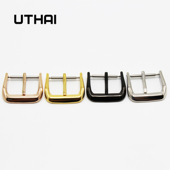 UTHAI T03 Metal Watch Buckle 18-26mm Men Watchband Strap Silver Black Brushed 316L Stainless Steel Clasp Accessories - discount item  19% OFF Watches Accessories