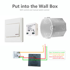 Image 2 - Tiny Smart Switch Mini Wifi Switch ewelink APP Remote control domotica DIY home automation voice control by Alexa Google Home