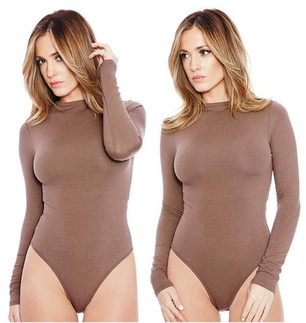 Sexy Romper Women Bodysuit Long Sleeve 2019 Spring New Solid Jumpsuits Club Wear O-Neck Sexy Bottoming Shirt Women Clothings 2