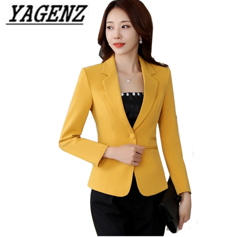 2018 Spring New Short Suit Business Women Blazer Jackets Korean Slim Long sleeve Female Blazer Plus size Office Ladies Suit 4XL