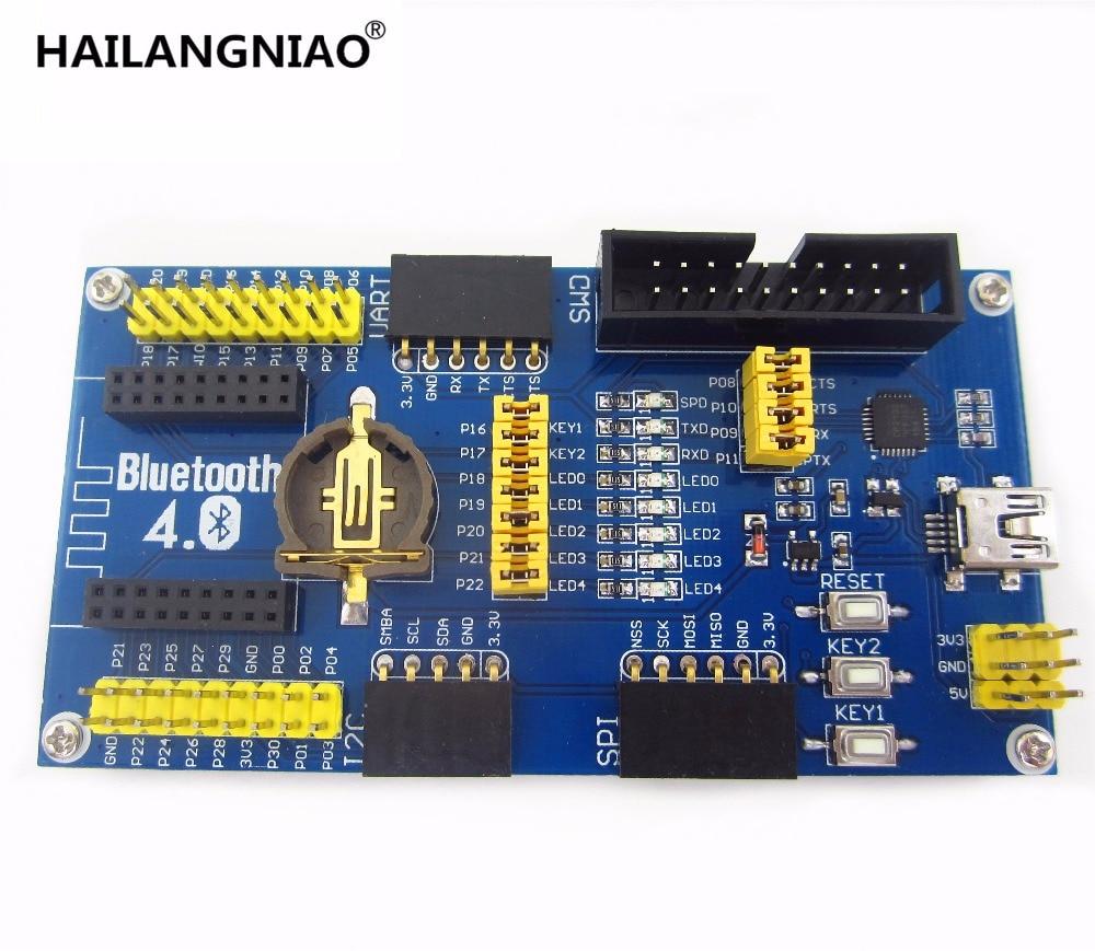 1PCS BLE4 0 Bluetooth NRF51822 Module 2 4G Wireless Communication Module  Mother Board Expansion Development Board Kit