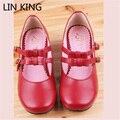 LIN REY Zapatos Lolita Dulce Mori Chica Bowtie Hebilla Correas Tacones Gruesos bajos Mary Janes Partido Bombas de Cuero Suave de Las Mujeres zapatos