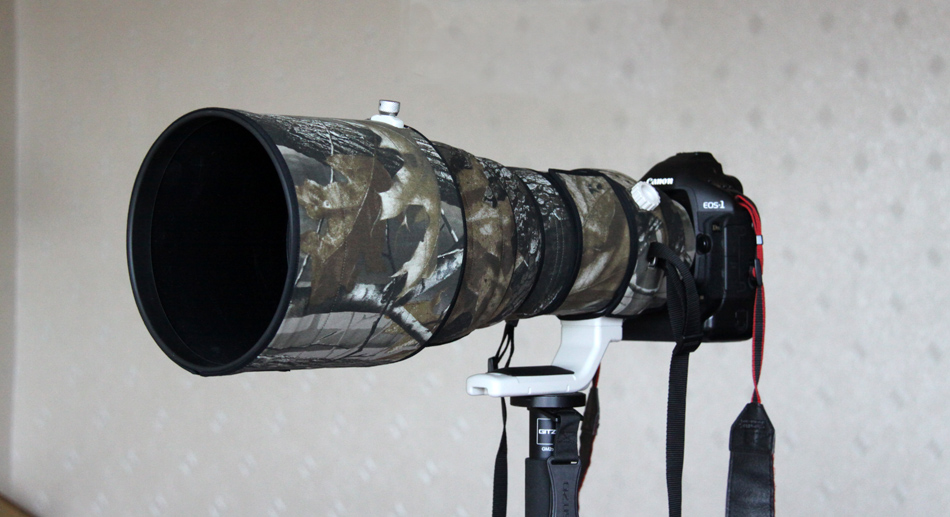 ROLANPRO Lens Clothing Camouflage Rain Cover Canon EF 400mm F/2.8L II USM II Without Image Stabilization Lens Protective Case rolanpro lens camouflage rain cover for canon ef 400mm f 4 do is usm lens slr gun clothing protective case guns clothing cotton