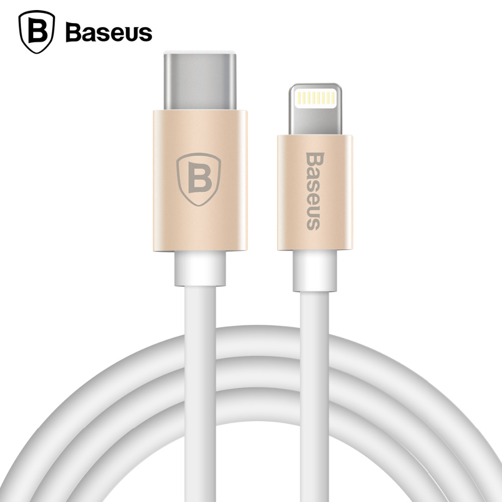 Baseus Gather Series 2-in-1 Cable 1M For Lightning/Type-C Ports For Apple iPhone 5/5C/SE/5S/6/6S Plus Tab