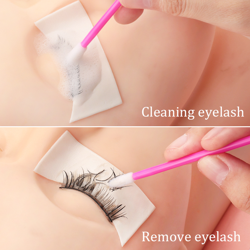 50pcs Disposable Lip Brush Set Lipstick Mascara Wands Brush Cleaning Eyelash Eyebrow Make Up Applicators tools 2