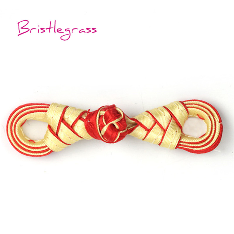 Cheap Price Bristlegrass 5 Pair Handmade Red Leaf Chinese Knot Buttons Frog Closure Ribbon Fasteners Cheongsam Costume Suit Diy Sewing Craft Home & Garden