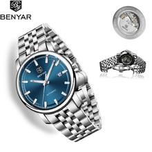 BENYAR 2019 New Mens Watches Automatic/Mechanical/Luxury/Watch men Stainless Steel Waterproof Watch Men Clock Relogio Masculino