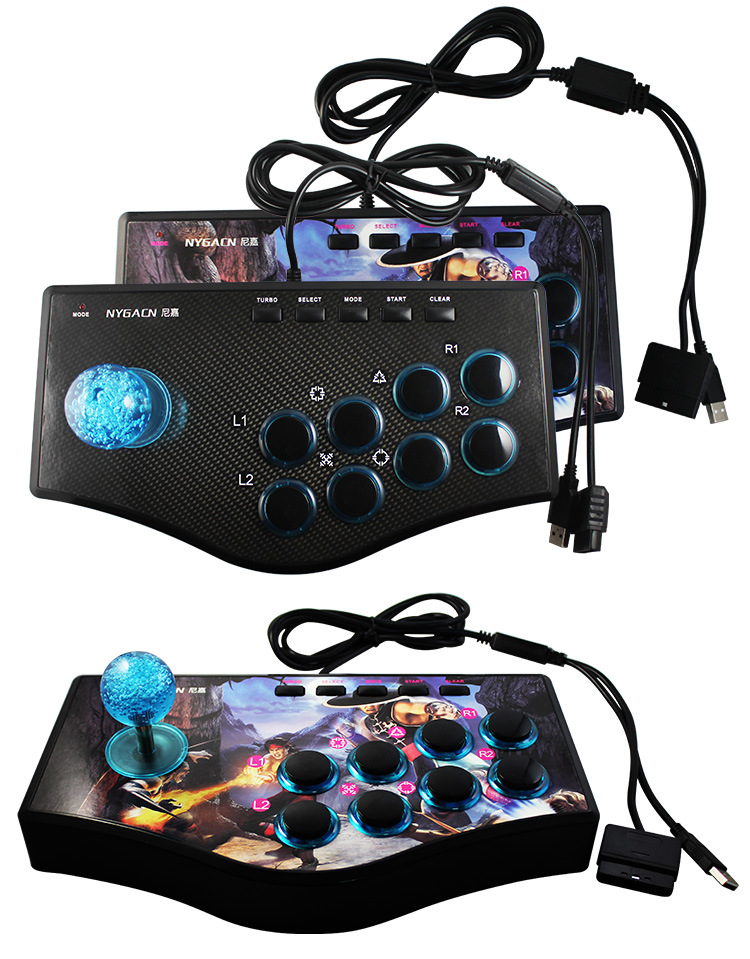 Retro Arcade Game Joystick USB Rocker Game Controller 3 in 1 for PS2 PS3 PC Android