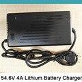 54.6 V 4A Carregador de Bateria De Lítio Inteligente Para 48 V Scooter Elétrica ebike Bicicleta Cadeira de Rodas Bateria Li-ion