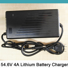 54 6V 4A Smart Lithium Battery font b Charger b font For 48V Electric Scooter Bicycle