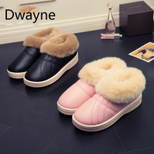Waterproof Women Winter Shoes Couple Unisex Snow Boots Warm Fur Inside Antiskid Bottom Keep Warm Mother Casual Boots