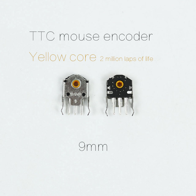 US $9 0 |5PCS original TTC 9mm mouse encoder yellow core for gaming Mouse  RAW deathadder Logitech G403 G603 G703 High precision long life-in Mice &