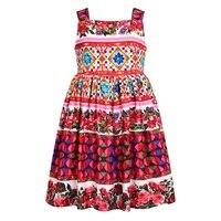 Cirls Dress Summer 2017 Brand Kids Dress Girls Sleeveless Princess Dress For Girls Printing Floral Toddler