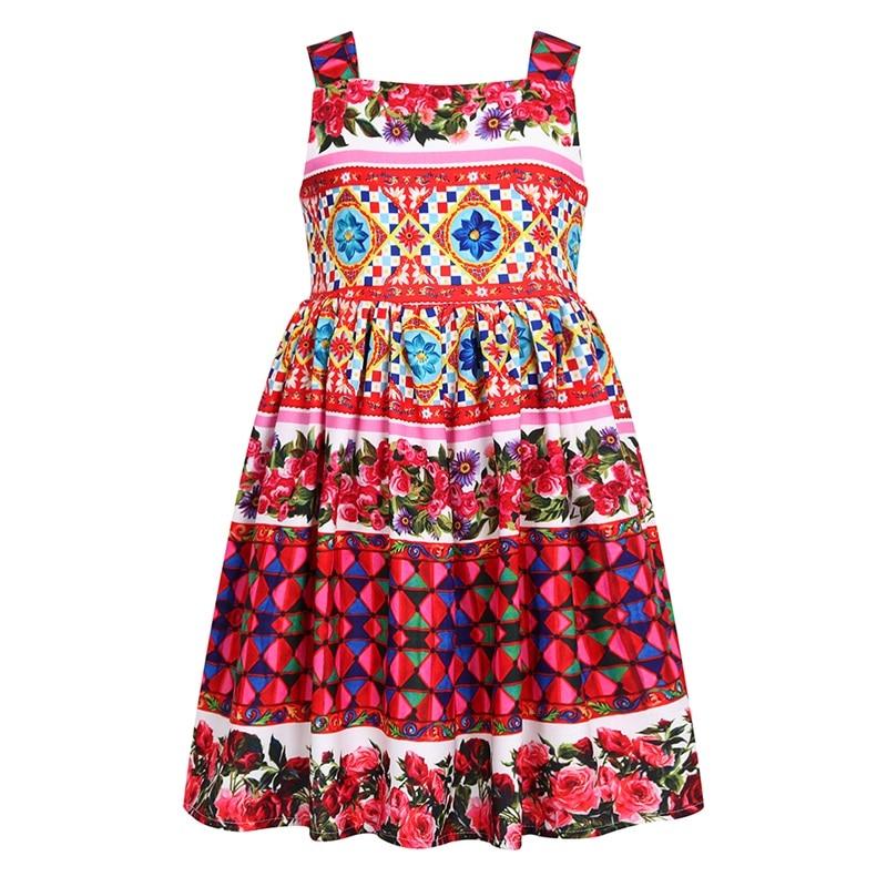 Robes fille fleur fille robe d'été fille une ligne robe fille motif - Vêtements pour enfants
