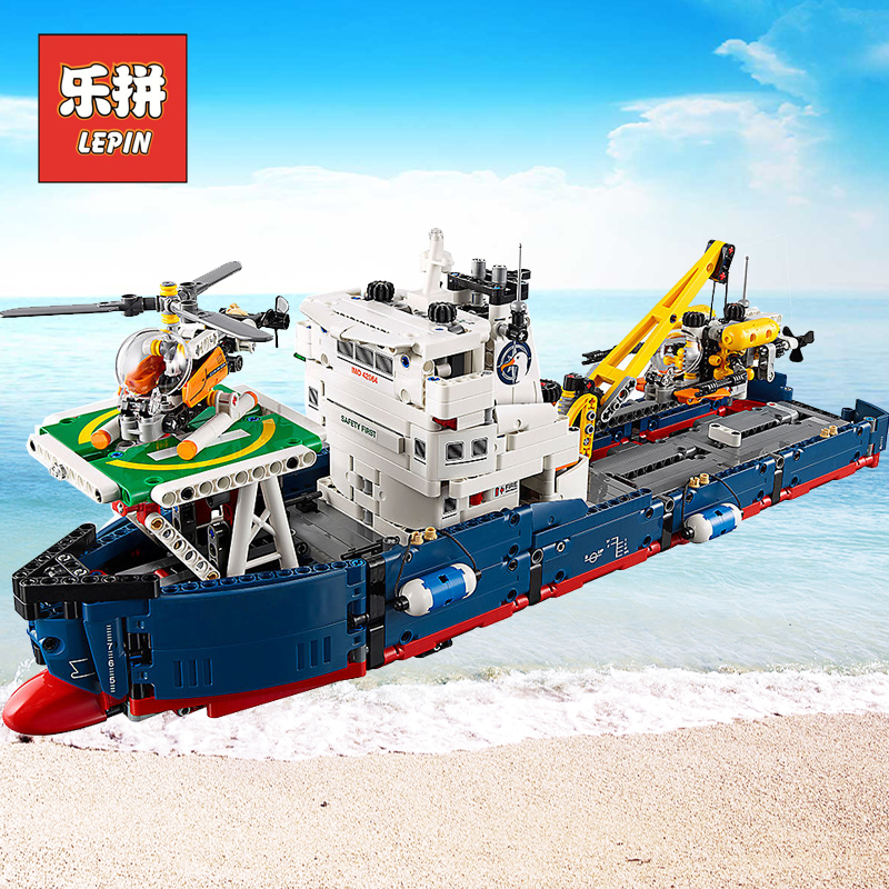 Lepin City Rescue 20034 the Searching Ship Set Compatible Legoinglys Technic Building Blocks Bricks Kids Toys 42064 Children