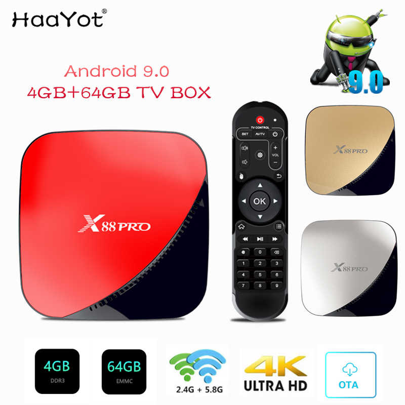 HAAYOT X88 PRO Android 9 0 TV Box 4G 32G Rockchip RK3318 4