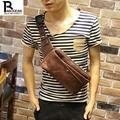 Nova moda masculina colete lazer peito pacote de cintura pequena cruz corpo de ombro mensageiro saco