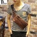 Nueva moda Vintage hombres de ocio paquete pecho pecho pequeño bolso paquete de la cintura cruzada cuerpo bolsas de viaje hombro messenger bag