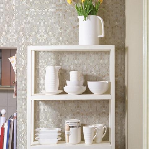 White Natural Shell Mother Of Pearl Mosaic Tile Kitchen Backsplash Bathroom Shower Home Wall