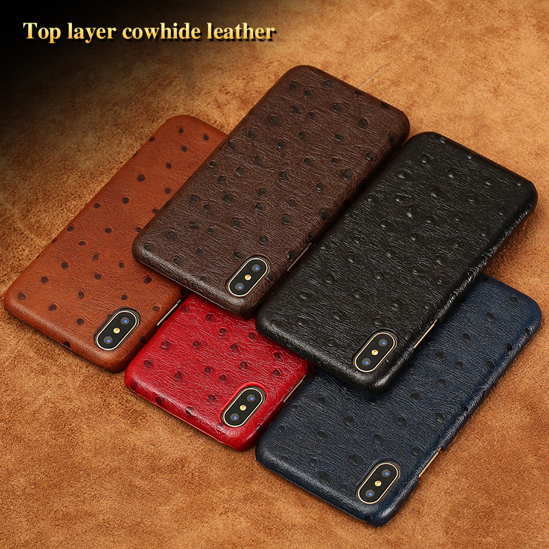 size 40 111ab 909ca US $15.9  LANGSIDE Genuine Leather Case for LG V20 Luxury Ostrich Leather  Texture Top Cowhide Leather Handmade Custom Back Cover-in Half-wrapped Case  ...