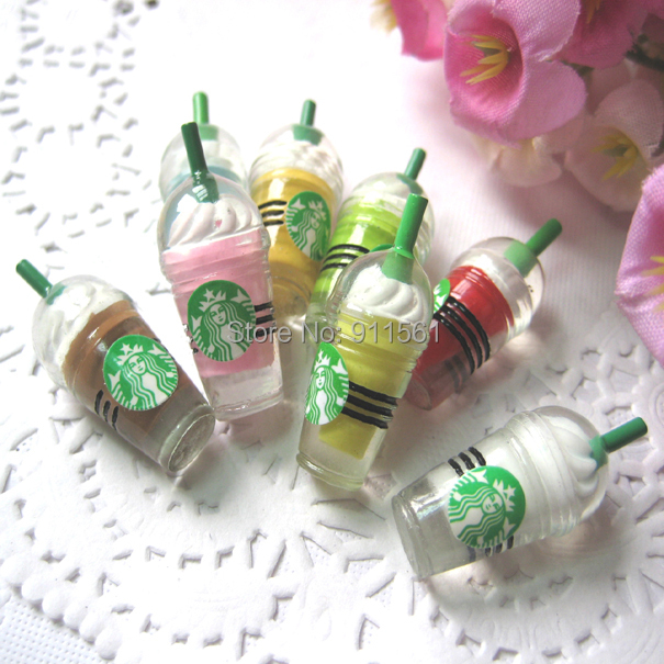 Hot Coffee Cup >> Very Hot and Kawaii Starbucks Cup Ice Cream Cups Coffee Drink Cup Stick Resin Cabochons (30x12mm ...