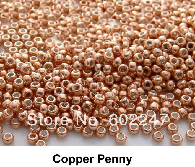 Buy new wholesale copper penny glass seed for Natural seeds for jewelry making