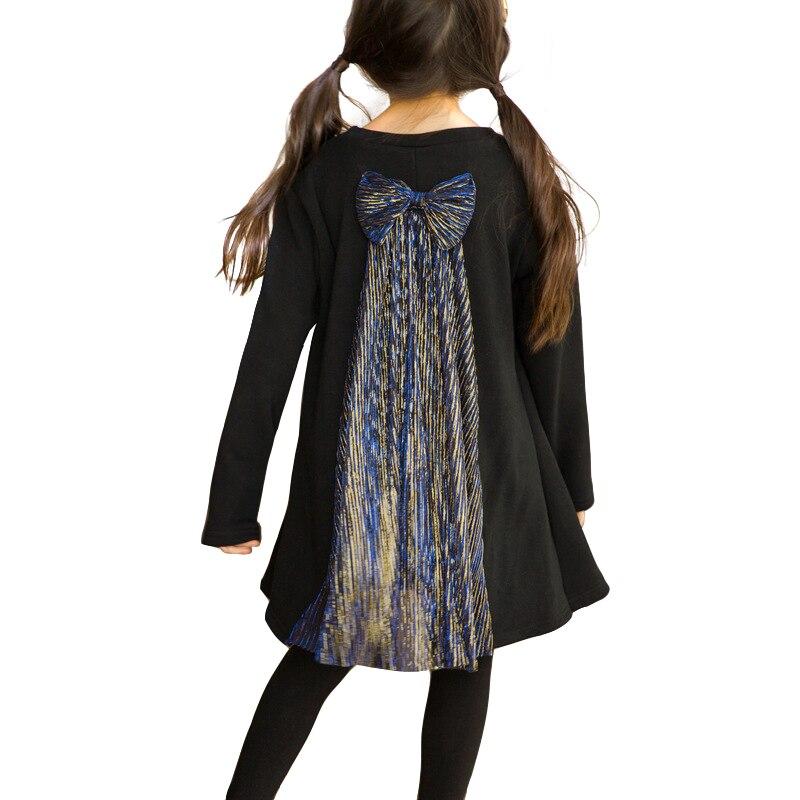 pretty nice a280d 45e9b Nero elegante del merletto della principessa dell'annata del costume noble  abito per 4-14 anni ragazze adolescenti prom abiti a maniche lunghe bambini  ...